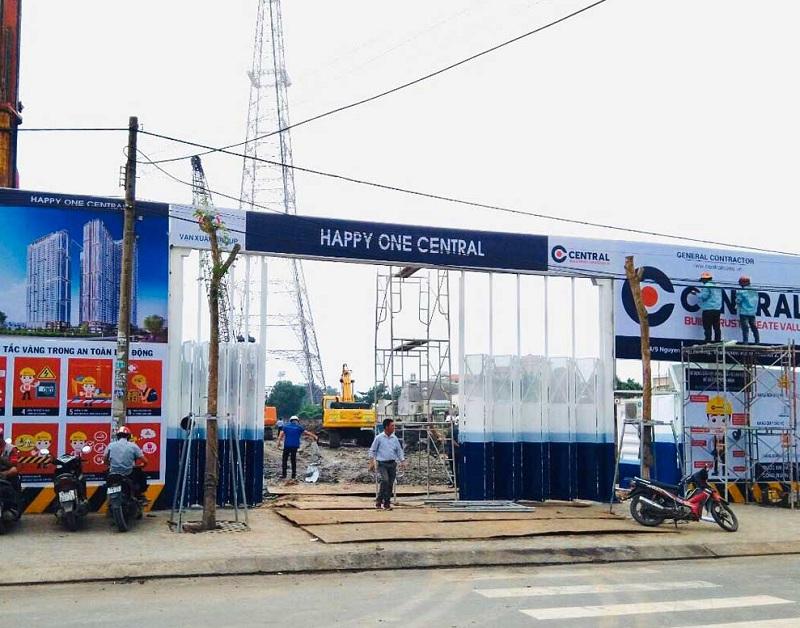 Hiện trạng chưa có gì, nhưng dự án Happy One Central đã được rao bán khắp nơi trên mạng