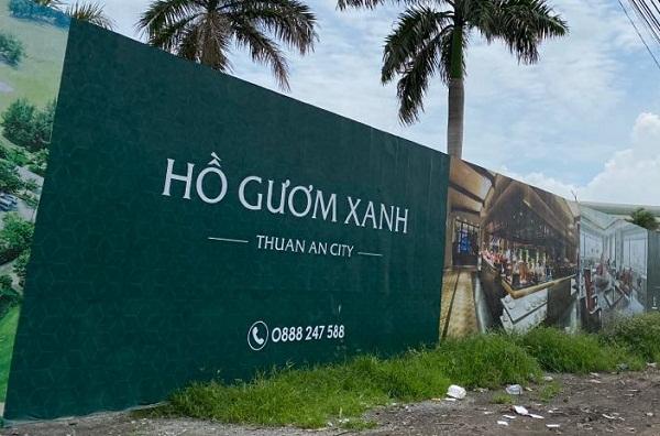Bình Dương xử phạt chủ đầu tư dự án Hồ Gươm Xanh